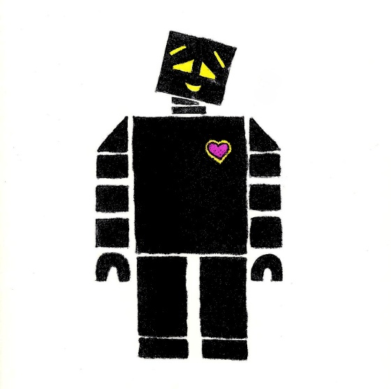 Robot with Heart on His Chest