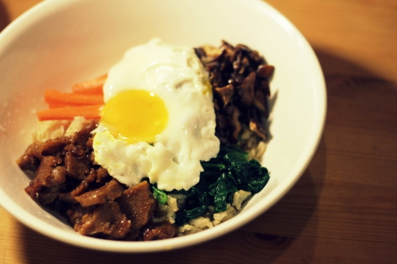 Bibimbop with Seitan Bulgogi
