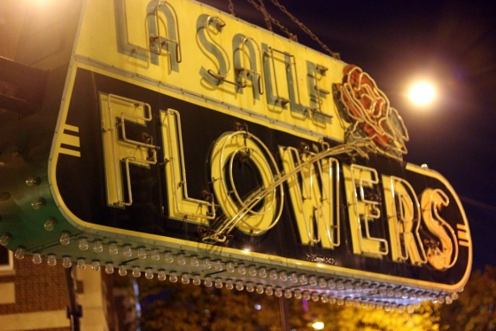 LaSalle Flowers Sign