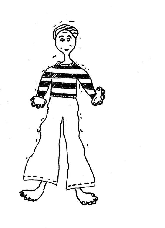 Man in Striped Shirt 1