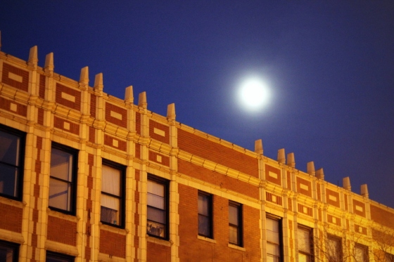 Milwaukee Avenue Under Moon