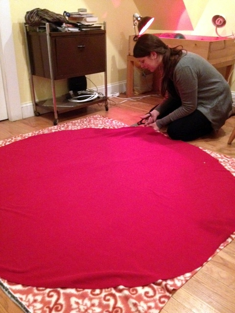 Making Easy Tree Skirt